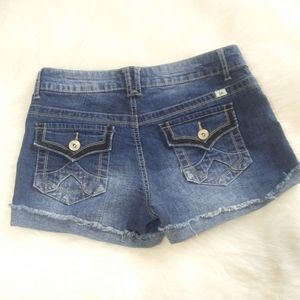 Lei Ashley Lowrise Denim Blue Jean Shorts